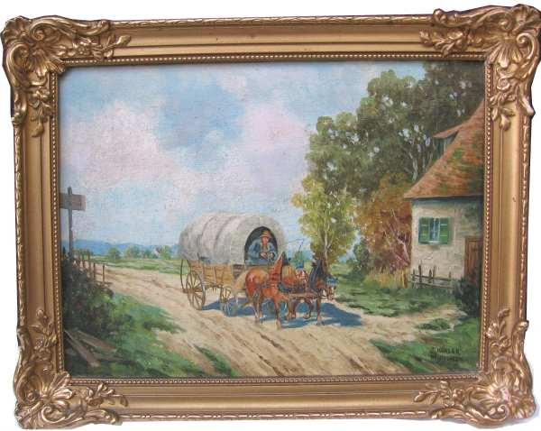 kohler johannes 1908 m nchen kutsche planwagen pferde ebay. Black Bedroom Furniture Sets. Home Design Ideas
